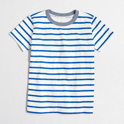 Boys' contrast ringer t-SHIRT in stripe