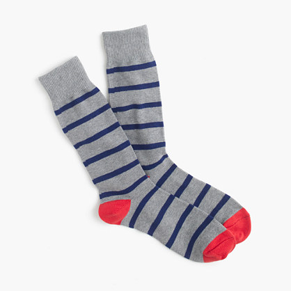 Naval-striped socks