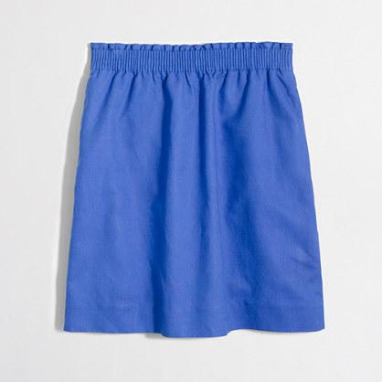 Factory linen-cotton sidewalk skirt