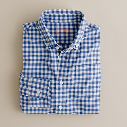 Boys' Secret Wash shirt in jenson gingham