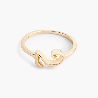 Sale alerts for J.CREW Lulu Frost 14k gold code ring - Covvet