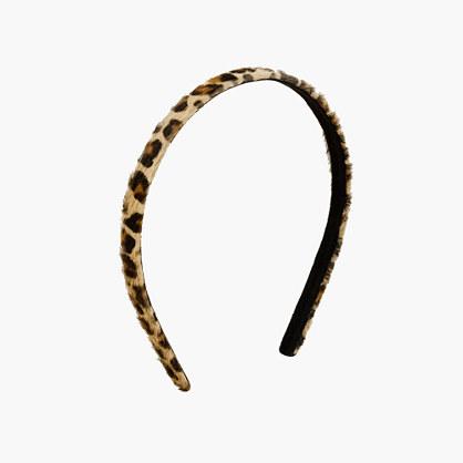 Girls' leopard-print headband