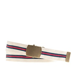 Stripe webbing plaque belt