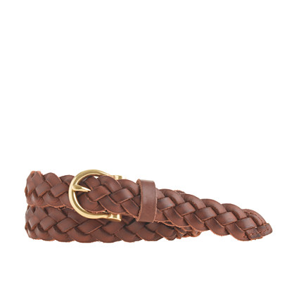 braided leather belt belts j crew