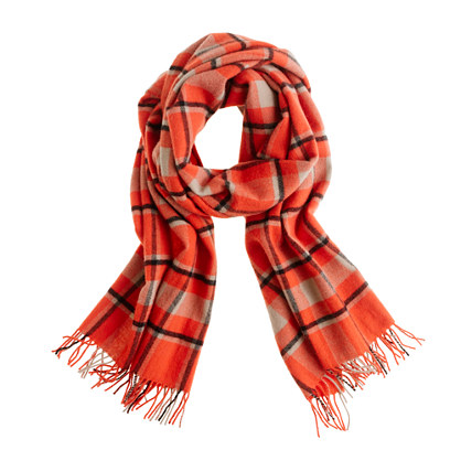 wool plaid scarf scarves j crew. Black Bedroom Furniture Sets. Home Design Ideas