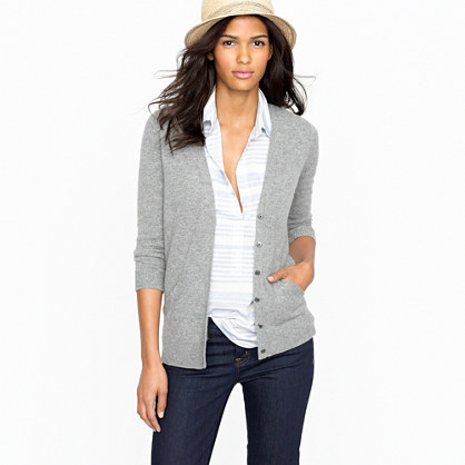 V Neck Sweaters J Crew - Gray Cardigan Sweater
