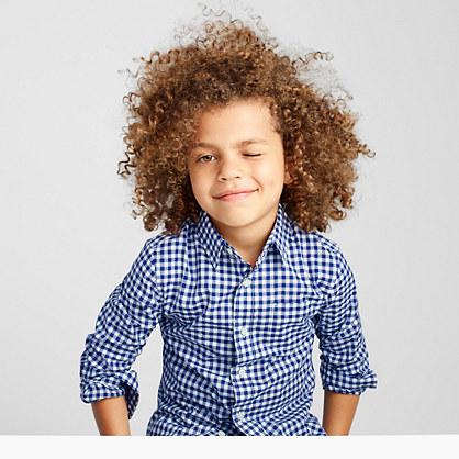 Kids' Secret Wash shirt in gingham