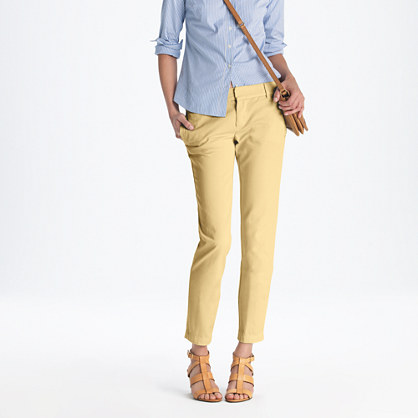 Perfect Brokenin Boyfriend Chino, Illesteva Black Leonard Sunglasses And Gemma Flats From JCrew JCrew Womens
