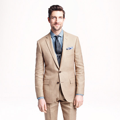 Ludlow suit jacket in Italian linen-cotton