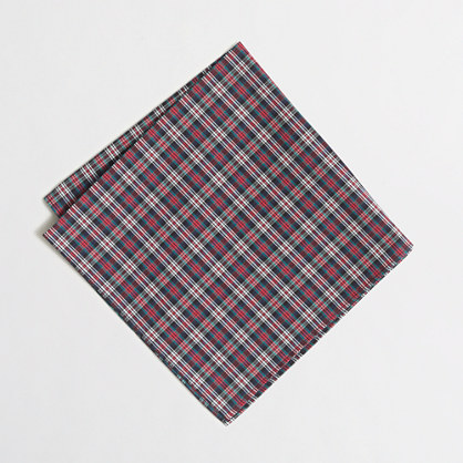Factory gingham pocket square
