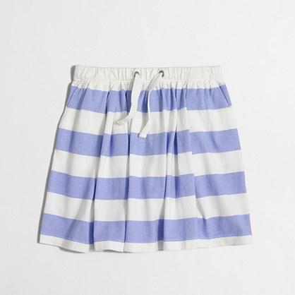 Factory girls' stripe drawstring skirt