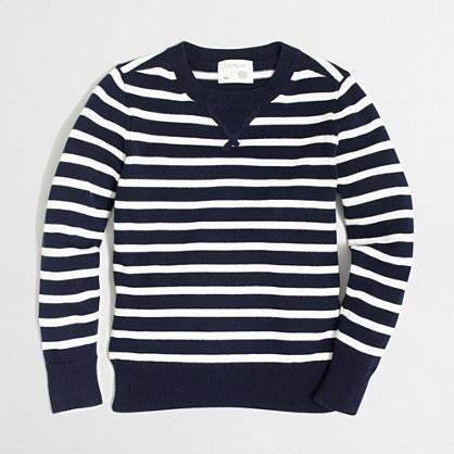 Factory boys' stripe sweatshirt sweater
