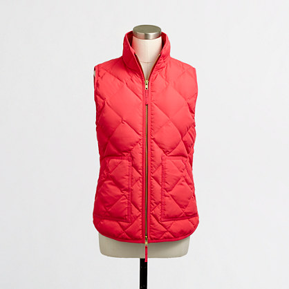 Quilted Puffer Vest Women S Outerwear J Crew Factory
