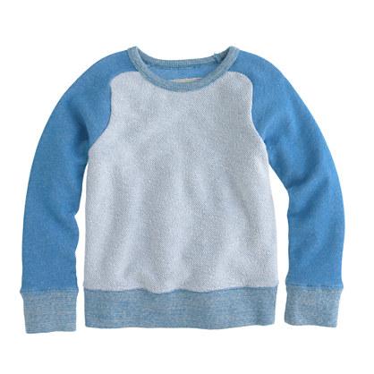Boys' reverse baseball sweatshirt