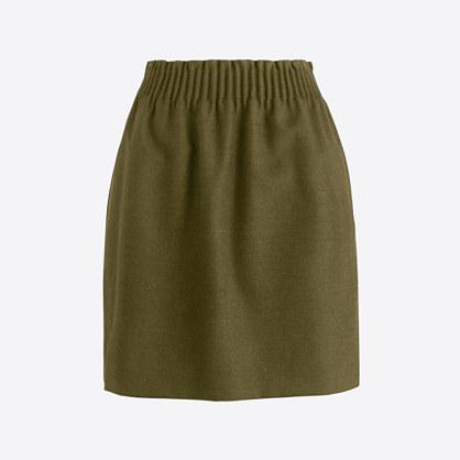 Wool sidewalk skirt