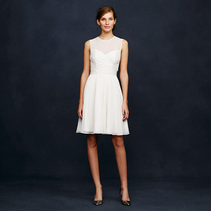 Sale alerts for J.CREW Ivory Clara dress in silk chiffon - Covvet