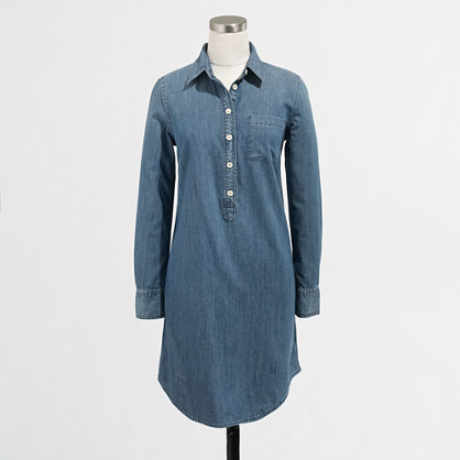 Factory chambray shirtdress