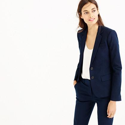 Thompson blazer in bi-stretch cotton