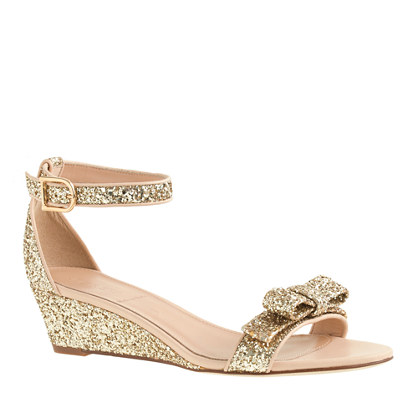 Lillian glitter low wedges