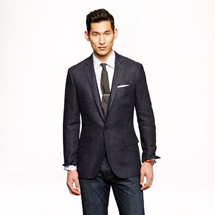 Sale alerts for J.CREW Ludlow sportcoat in indigo glen plaid Italian linen - Covvet