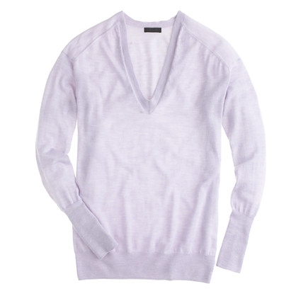 Collection featherweight cashmere boyfriend V-neck sweater
