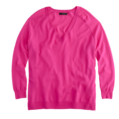 Merino side-panel V-neck sweater