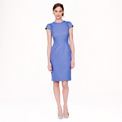 J.Crew Puff-sleeve Dress in Super 120s | jcrew spring collection