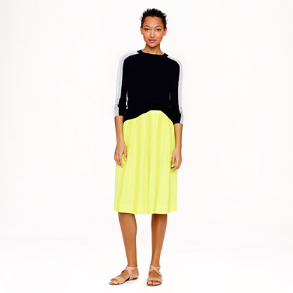 Sale alerts for J.CREW Collection lace-stripe silk skirt - Covvet