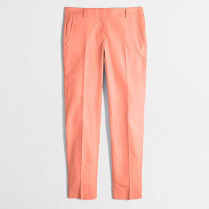 Factory petite skimmer pant in cotton oxford