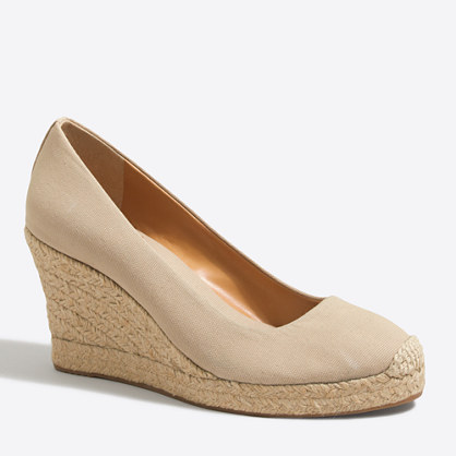 Factory canvas espadrille wedges