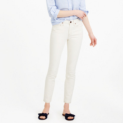 Tall stretch toothpick jean in ecru