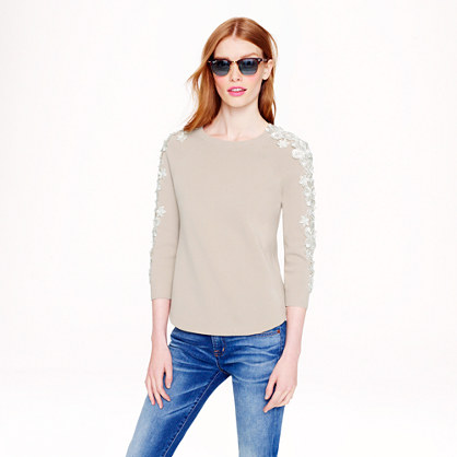 Sale alerts for J.CREW Flower-sleeve sweater - Covvet
