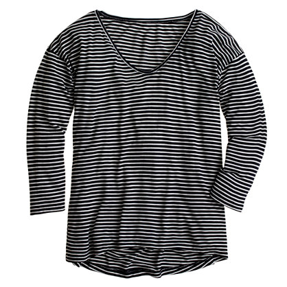 Prima jersey drop-shoulder tee in stripe