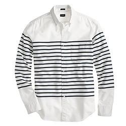 Slim vintage oxford in horizontal stripe for Horizontal striped dress shirts men