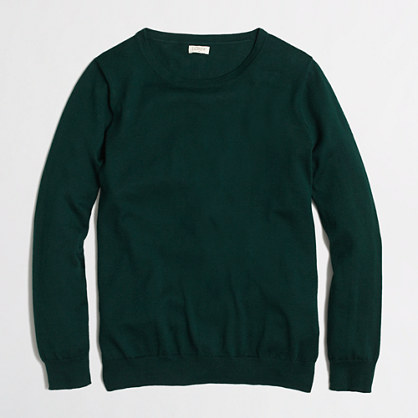 Factory cotton crewneck sweater