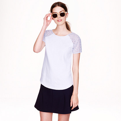 J.Crew Lace-Sleeve Top | jcrew spring collection