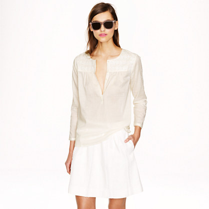 Sale alerts for J.CREW Embroidered buttoned top - Covvet