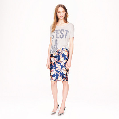 Petite Collection No 2. pencil skirt in antique floral