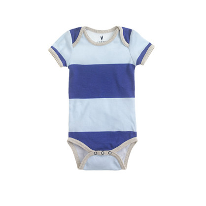 Baby one-piece in rugby stripe