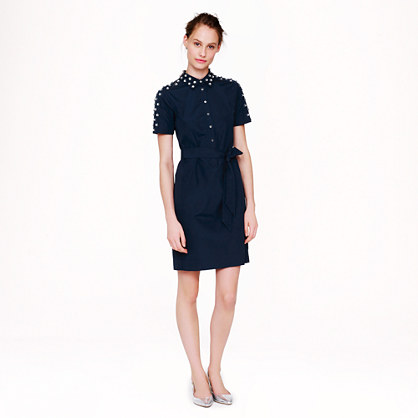 Collection Thomas Mason® for J.Crew jeweled shirtdress