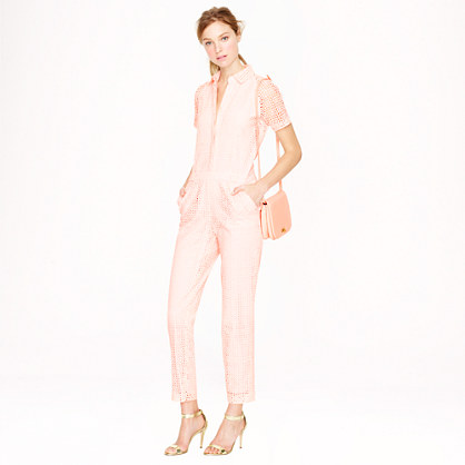 J.Crew Collection Eyelet Jumpsuit | jcrew spring collection