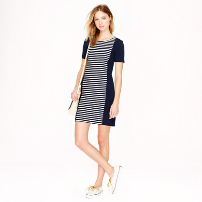 Stripe knit shift dress