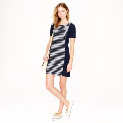 Stripe knit shift dress
