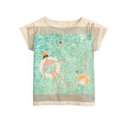 Sale alerts for J.CREW Girls' Olive in swimming pool tee - Covvet