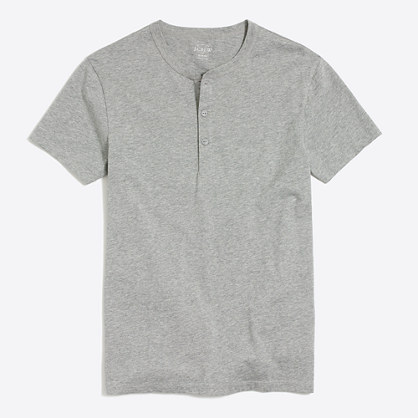 Slim short-sleeve henley
