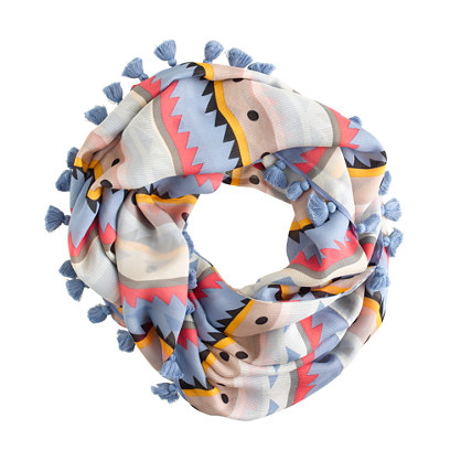 Sale alerts for J.CREW Printed silk snood - Covvet
