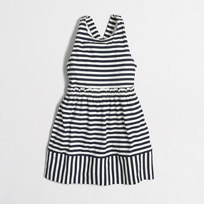 Factory girls' cross-back dress in mixed dot