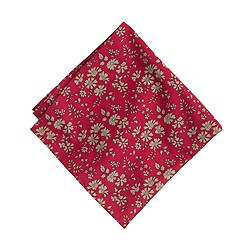 English Cotton Pocket Square In Liberty Red Floral