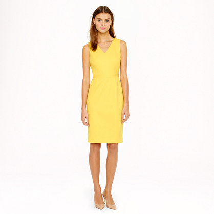 Tall seamed stretch cotton dress