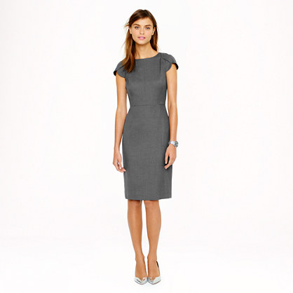 Sale alerts for J.CREW Petal-sleeve dress in Super 120s - Covvet